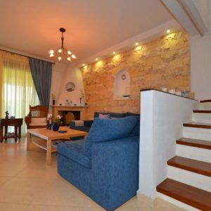 Living room in Kalandra villa Halkidiki