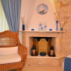 Fireplace in Kalandra villa Halkidiki