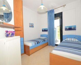 Twin room in Kalandra villa Halkidiki